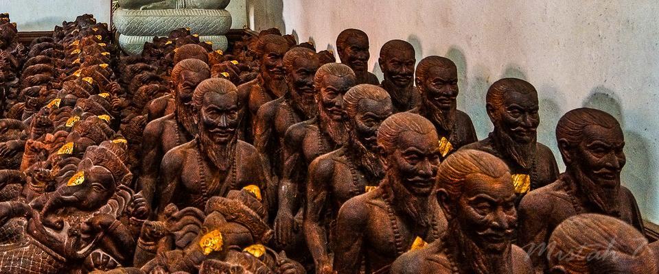 Inside a temple in Nan province
