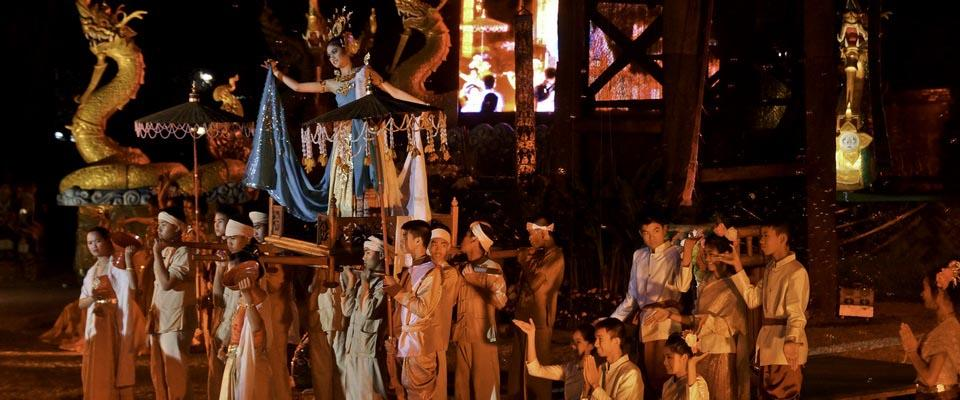Parade at a Festival in Chiang Rai